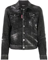 DSquared² Джинсовая Куртка С Эффектом Потертости - Черный