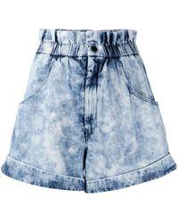Étoile Isabel Marant Bermudas Itea con efecto lavado - Azul