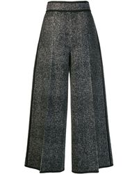 DSquared² Checked Wide-leg Trousers - Black