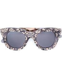 Cutler & Gross Sonnenbrille mit Leoparden-Print - Schwarz