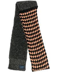 Raf Simons ロゴパッチ スカーフ - ブラック