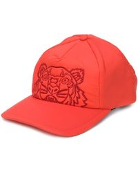 KENZO Kampus embroidered Tiger baseball cap - Rosso