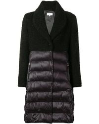 Patrizia Pepe - Quilted-panel Coat - Lyst