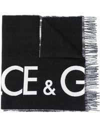 Dolce & Gabbana カシミア スカーフ - ブラック
