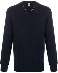 Eleventy V-neck Cashmere Sweater - Blue