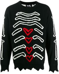Haculla Bones Sweater - Black
