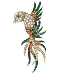 Susan Caplan Broche à design d'oiseau (années 1960) - Métallisé