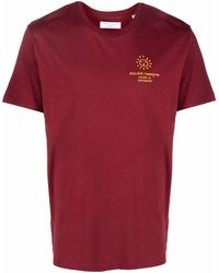 Societe Anonyme Logo-print Organic-cotton T-shirt - Red