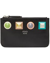 Fendi - Geometric Stud Coin Pouch - Lyst