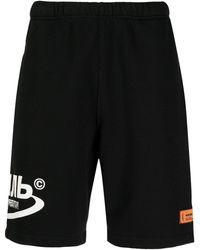 Heron Preston Logo-print Track Shorts - Black