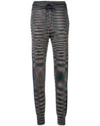 M Missoni - Drawstring Knit Track Pants - Lyst