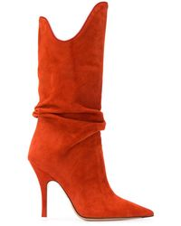 The Attico Botas con diseño holgado - Naranja