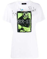 DIESEL グラフィック パッチ Tシャツ - ホワイト