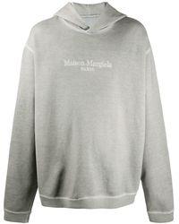 Maison Margiela Худи Оверсайз С Вышитым Логотипом - Серый
