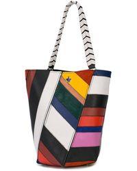 Proenza Schouler Borsa a secchiello Hex patchwork - Multicolore