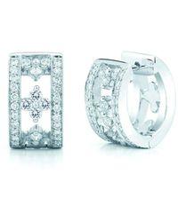 Kwiat Boucles d'oreilles Jasmine en or blanc 18ct ornées de diamant