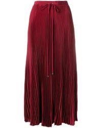 Tibi - Midi Pleated Skirt - Lyst