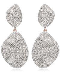 Monica Vinader - Rp Nura Double Teardrop Cocktail Diamond Earrings - Lyst