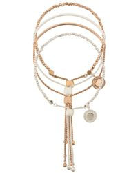 Astley Clarke Double Cylinder Cosmos Bracelet Stack - Metallic