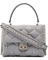 c85a11f44eda Valentino - Grey Medium Candy Studded Leather Shoulder Bag - Lyst