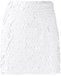 Dondup Sequinned Mini Skirt - White