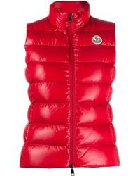 Moncler Ghany パデッドジレ - レッド