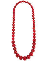 Olympiah Marrocos Beaded Nacklace - Red