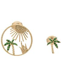 Yvonne Léon   Sapphire Palm Tree Sun Earring Set   Lyst