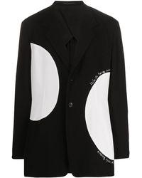 Yohji Yamamoto Blazer Met Colourblocking - Zwart