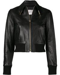 ffac8e44c Valentino Vltn Biker Jacket in Black - Lyst