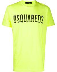 DSquared² T-shirt Met Logoprint - Geel