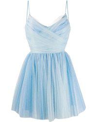 BROGNANO Flared Mini Dress - Blue