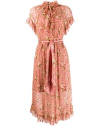 Zimmermann - Ruffled Floral Day Dress - Lyst