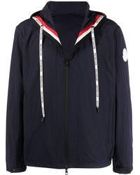 Moncler Легкая Куртка С Логотипом - Синий