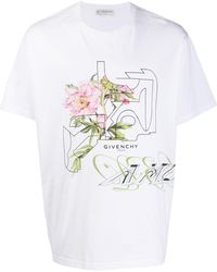 Givenchy T-shirt Met Print - Wit