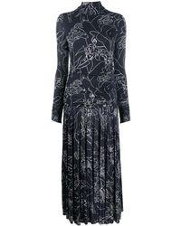 Victoria, Victoria Beckham バイカラー ドレス - ブルー