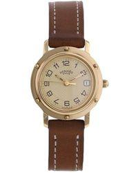 Hermès 2000 pre-owned 'Clipper' Armbanduhr, 24mm - Mettallic