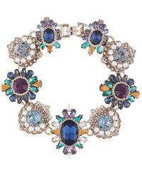 Marchesa Regal Affair Bejewelled Bracelet - Blue