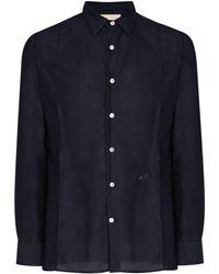 PREVU Britton Semi-sheer Shirt - Blue