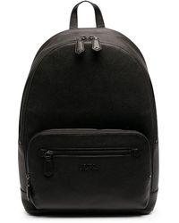 Polo Ralph Lauren Pebbled Leather Backpack - Black