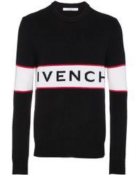 Givenchy - Logo Intarsia Jumper - Lyst