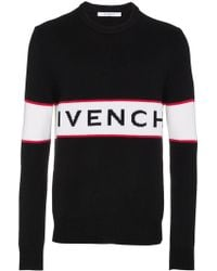 Givenchy - Pull à logo intarsia - Lyst