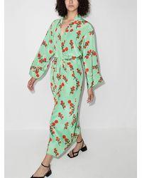 BERNADETTE Albornoz con motivo floral - Verde