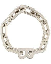 Balenciaga 'B' Kettenarmband - Mettallic