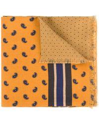 Kent & Curwen Paisley print scarf - Giallo
