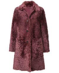 DESA NINETEENSEVENTYTWO - Shearling Button Coat - Lyst