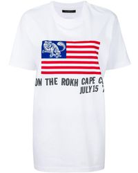 ROKH プリントtシャツ - ホワイト