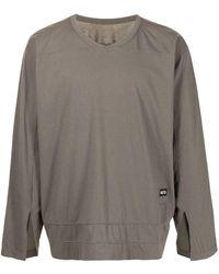Rick Owens DRKSHDW Varsity ロングtシャツ - グレー