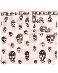 Alexander McQueen Skull-print Scarf - Pink