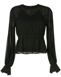 Calvin Klein Blouse à design plissé - Noir